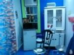 blue piercing room