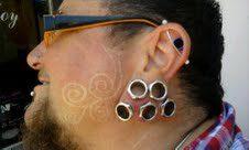 ear plug piercing